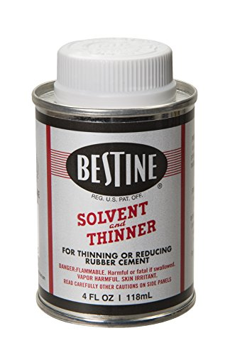 Bestine disolvente y diluyente para cemento de goma – Limpia tinta, adhesivo y piezas, lata de 4 onzas
