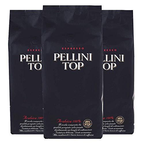 Pellini Caffè Top 100% Arabica, Bohne, 3er Pack (3 x 1 kg)
