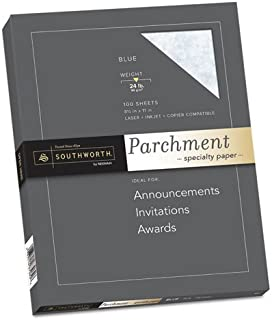"""$20 » Southworth - Parchment Specialty Paper Blue 24 Lbs. 8-1/2 X 11 100/Box """"Product Category: Paper & Printable Media/Loose Pa..."""