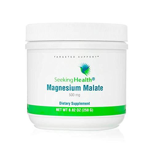 Seeking Health Magnesium Malate Powder - Provides 500 mg of Magnesium Malate as Dimagnesium Malate Per Serving  Magnesium Powder for Men  100 Servings
