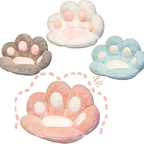 Cute Seat Cushion Cat Paw Shape Lazy Sofa,Bear Paw Chair Cushion Warm Floor Plush Sofa Cushion Skin-Friendly Floor Mat (Pink)