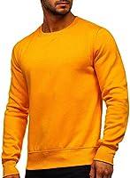 BOLF Herren Sweatshirt Pullover Sweater Pulli ohne Kapuze Langarmshirt Rundhalsausschnitt Farbvarianten Crew Neck...