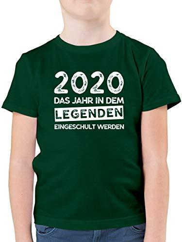 Einschulung und Schulanfang - 2020 Das Jahr in dem Legenden eingeschult werden - 128 (7/8 Jahre) - Tannengrün - ich bin 1. klasse einschulung schulanfang geschenke - F130K - Kinder Tshirts und