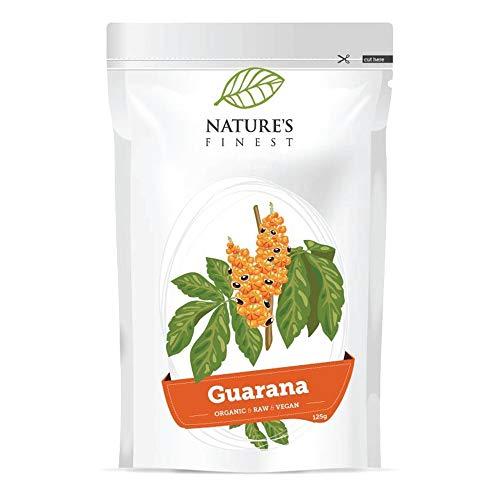 Nature's Finest Guarana Bio en Poudre 125g   Alternative Cru, Bio et Vegan au Café   Convient aux Vegans et Végétariens