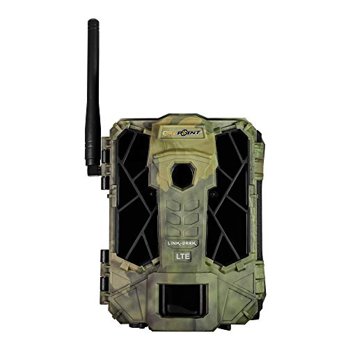 SPYPOINT LINK-DARK Cellular Trail Camera 42 LED Invisible Infrared Flash Game Camera with 80-foot Flash and 100-foot Detection Range LTE-Capable Cellular Trail Camera 12MP 0.07-second Trigger Speed