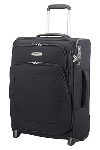 Samsonite Spark SNG - Upright S Expandable (Length 40 cm) Hand Luggage, 55 cm, 57 Litre, Black
