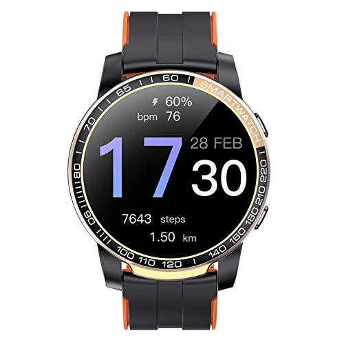 HQPCAHL Smartwatch,Reloj Inteligente con Pulsómetro,Cronómetros,Calorías,Monitor De Sueño,Podómetro Monitores De Actividad Impermeable IP67 Smartwatch Hombre Reloj Deportivo para Android iOS,Oro
