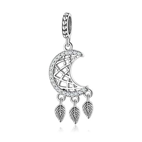 DFHTR Charms For Women Dream Catcher 925 Sterling Silver Pendants Beads Fit Original Charm Bracelet Jewelry Making