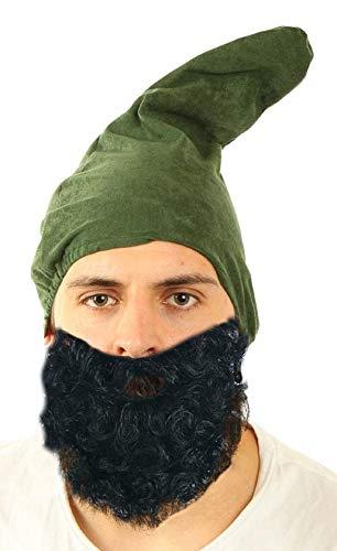 Marco Porta Zwergenmütze Erwachsene Gnom Wichtel Zwergenkostüm Zubehör Kopfbedeckung (Grün)
