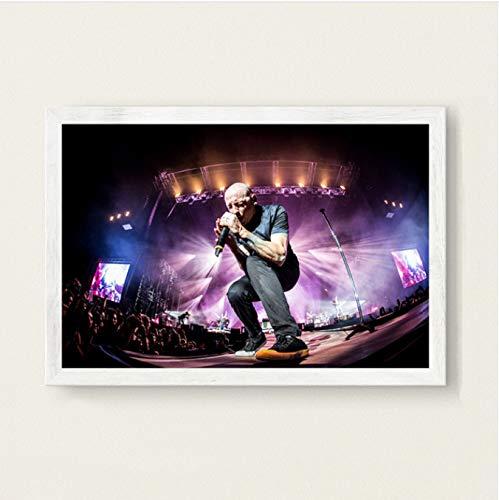 Xin Yao Store Moderne Mode Kreative Chester Bennington Linkin Park Musik Sänger Star Art Seidenmalerei Leinwand Wandposter Home Decor50X70CM