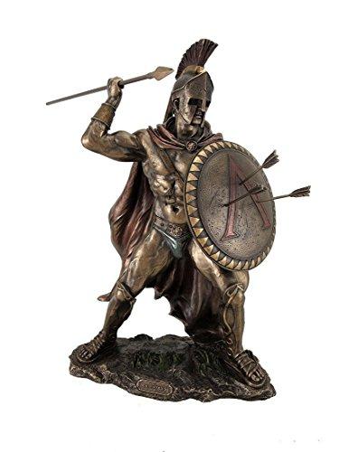 12.75' Leonidas Greek Warrior King Statue Sculpture Figurine Spartan Decor