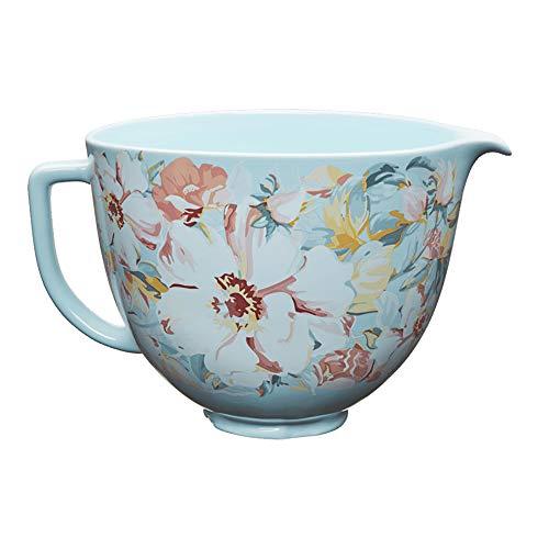 KitchenAid KSM2CB5PWG 5 Quart Stand Mixer Bowl, White Gardenia Ceramic