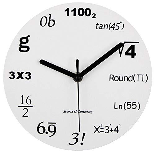 XMBT Stilvolle Moderne Wanduhr-Klassische Uhr Retro Quarz dekorative batteriebetriebene Wanduhr Wanduhr Dekoratives Quarz Silent Living Room Moderne Stille Uhr Französische Shabby Chic Uhr