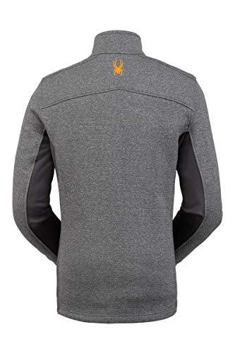 Spyder Herren Encore Fleece Jacke - Full Zip, Herren, Encore Full Zip Fleece Jacket, ebenholz, X-Large