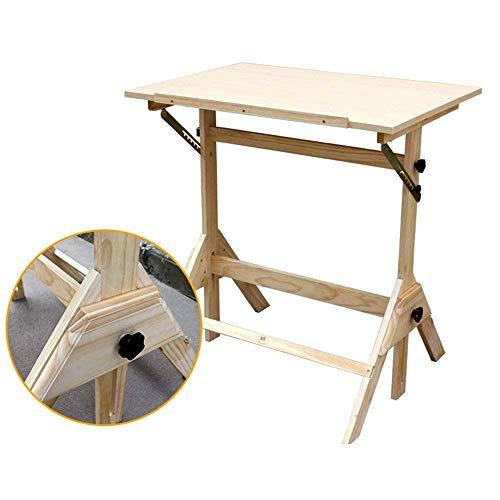 FTFTO Productos para el hogar Doblar la Mesa Mesa de Madera Maciza para Estudiantes Mesa de Dibujo Mesa de Escritorio de 90 * 60 cm