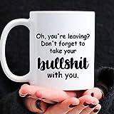 N\A Taza de café, Regalo de Despedida de compañero de Trabajo, Regalo de jubilación, Regalo Personalizado de Despedida, Regalo Divertido de Despedida con Foto Personalizada Taza de cerámica Blanca