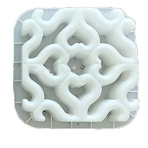 WGGTX 30x30x6cm Cemento Antiguo Molde de Ladrillo Molde de jardín Cuadrado Maquillaje de ladrillo Molde de ladrillo 3D Antideslizante Concreto Pavimento de plástico Moldes