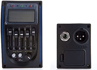 D'Luca 5 Band EQ Pre-Amp Pickup with LCD Tuner and Volume Control for Acoustic Guitars Complete Kit
