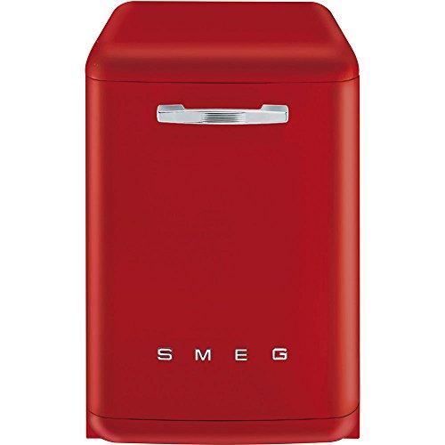 Smeg LVFABRD Stand Geschirrspüler Rot Spülmaschine Stand-Spüler AquaStop A+++