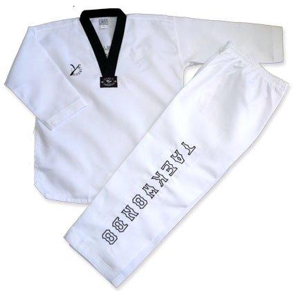 Y-DOUBLE EXPERT - Dobok de taekwondo, color negro blanco blanco Talla:200