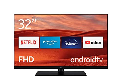 Nokia Smart TV 3200A 32 Zoll (80 cm) LED Fernseher (Full HD, Dolby Audio, HDR10, Sprachassistent, Triple Tuner – DVB-C/S2/T2), Android TV, enthält Bluetooth-Fernbedienung mit beleuchteten Tasten