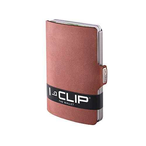 I-CLIP ® Cartera Soft-Touch Roble, Metallic-Grey (Disponible En 8 Variantes)