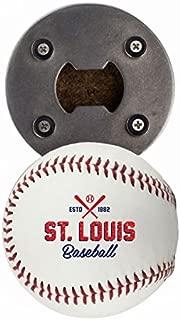 Buffalo BottleCraft St Louis Bottle Opener, Made from a real Baseball, The BaseballOpener, Cap Catcher, Fridge Magnet