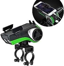 GKD 5 In1 Delantera De La Bici Luz De La Linterna 4400Mah Banco De Alimentación Titular del Teléfono De Altavoz Bluetooth Audio MP3 De Bell MTB