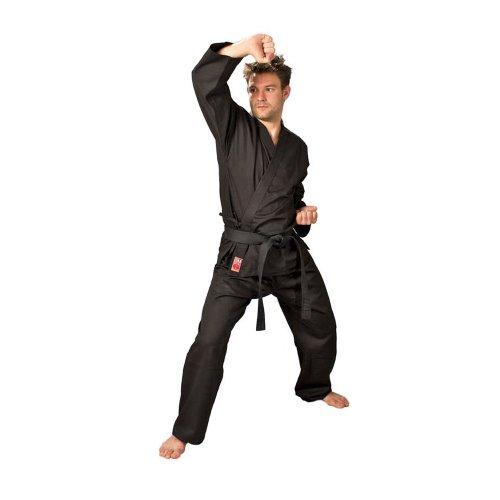 Ju-Sports - Kimono de kárate negro negro Talla:130