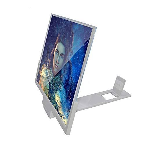 WOAIWOJIA telefoon scherm vergrootglas, 14 inch stereoscopic 3D Hd film video versterker tafeltelefoon houder standaard voor alle smartphones