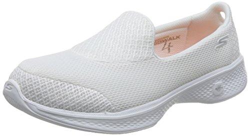Skechers Go Walk 4 Propel Womens Slip On Walking Shoes White 8