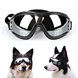 Namsan Dog Goggles Medium to Large Breed Dogs UV Resistant Sunglasses Snowproof Waterproof Glasses Adjustable Eyewear for Long Snout Dogs