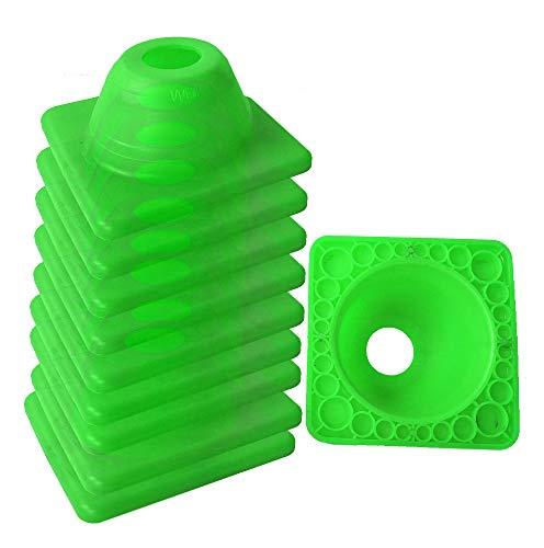 10 Stück UvV Fahrschul Pylonen Fahrtraining, Motorrad nur 4,5 cm Hoch grün oder grün - orange (grün)