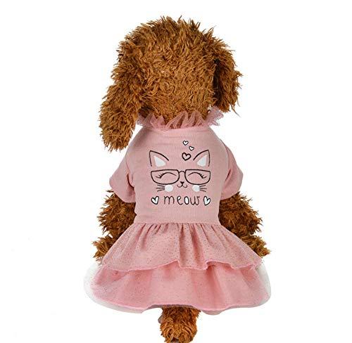MUXIAND Mode Huisdier Hond Kleding Jurk Zoete Prinses Jurk Kleine Medium Hond Huisdier Accessoires Teddy Puppy Bruidsjurk, XL