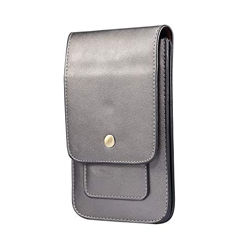 Bolsa con Clip de Cinturón para Teléfono Celular, Bolso Cinturon Hombre Cuero, 6.9' Cuero Hombre Bolsa Compacta de Cintura Caso Bolso de Cintura Móvil para Cinturón para Deportes Senderismo Viaje