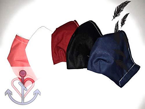 Unifarbene Gesichtsmaske, Mundschutz, aus 100% Baumwolle, für den Sommer