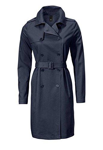 Best Connections Damen-Mantel Trenchcoat Sommer-Mantel Zweireiher Marine (34)