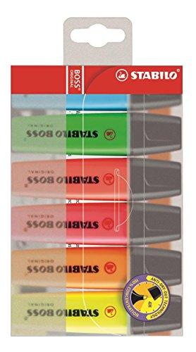 STABILO スタビロ 蛍光ペン ボス オリジナル 6色セット 70-6
