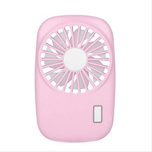 Mini ventilator kleine desktop airconditioning ventilator, draagbare USB-fan mini handcamera vorm oplaadbare zomer airconditioning koeltas fan voor outdoor reizen Office Rosa, Kejing Miao