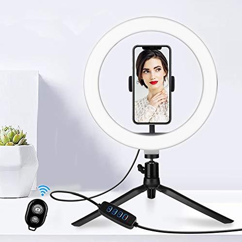 CHIRISEN RingLicht , 120 LED ,Ringleuchte mit Stativ 3 Leuchtmodi & 11 Helligkeitsstufen Selfie Licht für Make-up,Live-Streaming,YouTube, Tiktok, und Vlog (26cm RingLicht mit Selfie-Fernbedienung