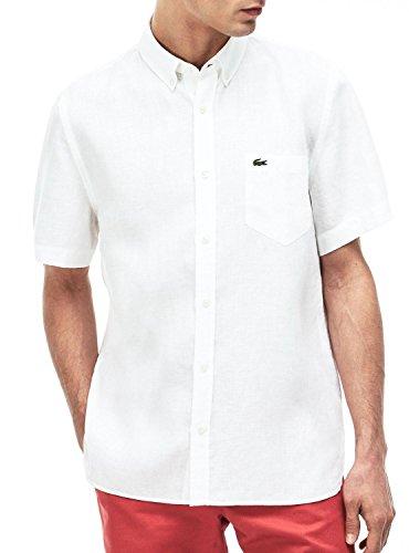 Lacoste Herren CH4991 Hemd, Blanc, M/L