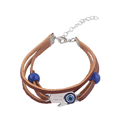 Unisex Fashion Vintage Bracelet Jewelry - Multilayer Hand Woven Bracelet Made Of Zinc Alloy + Soft Leather Rope - 2 Pieces Durable Bracelet For Concerts, Theme Parties, Weddings, Appointments, Etc