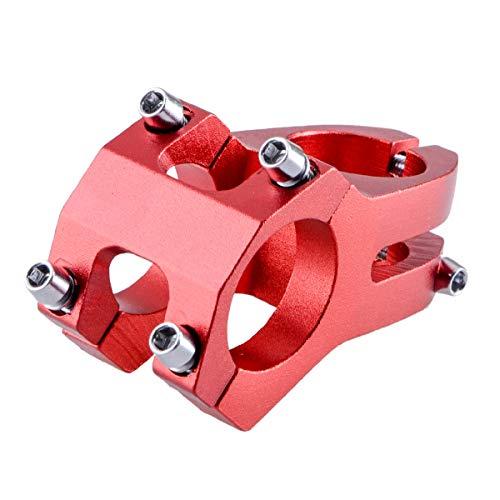 TRIWONDER Potencias MTB Vástago de Manillar Aleación de Aluminio Ligero 31.8 x 45mm para Ciclismo Bicicleta Montaña (31.8 x 45 mm - Rojo)