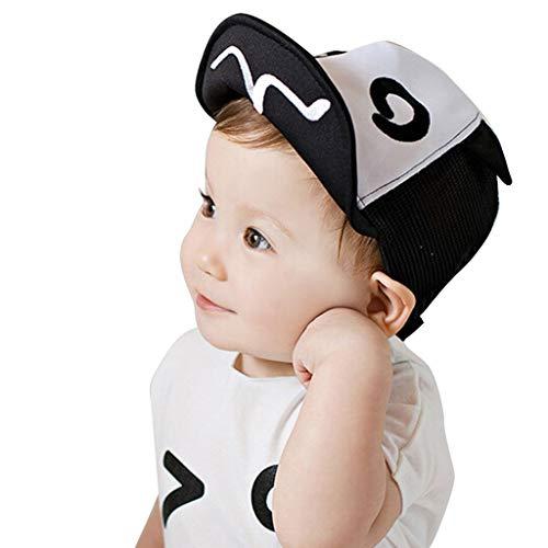 SANFASHION Baby Junge Mädchen Schirmmütze Kappe Mesh Trucker Baseball Cap Sommer Ineinander Greifen Kinder Cap (Schwarz)