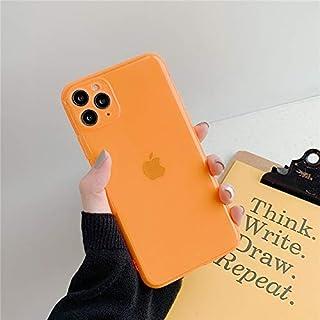 حافظات CRISTY-Fitted - غطاء هاتف نيون نيون نيون نيون نيون نيون نيون لون صلب لآيفون 11 برو X XR XS ماكس 7 8 7 بلس غطاء خلفي...