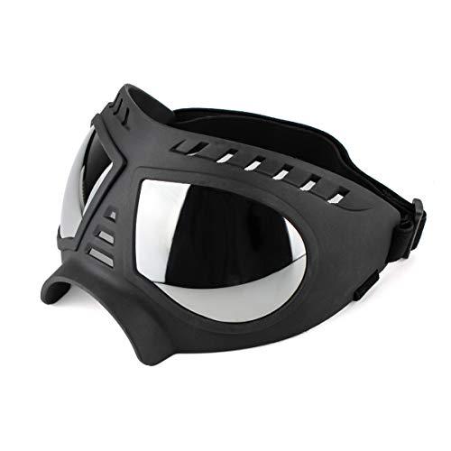 Namsan Gafas de Perro Gafas De Sol Para Perros De Mascotas Protección UV Gafas Impermeables Ajustables a Prueba de Viento para Perros Medianos / Grandes-Negro