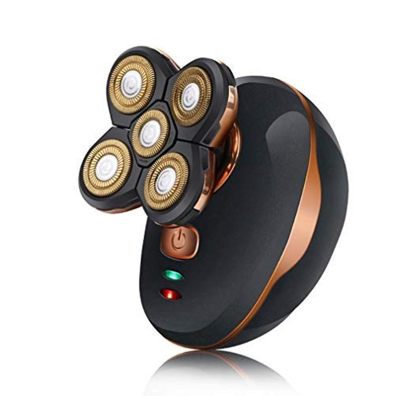 電極文房具ペア耐久性のある一般的な5頭防水シェービング刃カミソリ電気シェーバー用USB充電式ウェットドライポータブル