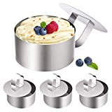 Stainless Steel Small Cake Rings, Mousse Cake Molds and Pastry Mini Baking Ring,Food Ring ...