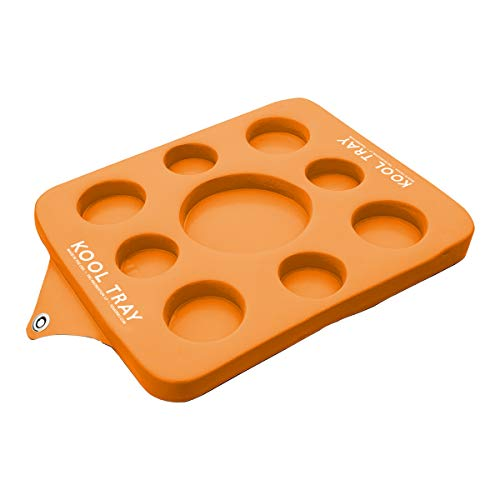 Pool Central Super Soft 20' Water Resistant Reversible Kool Floating Beverage Holder & Chess/Checkers Game Board, Orange