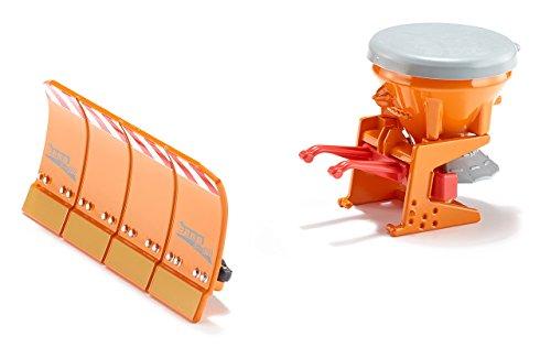 Siku - 2058 - Véhicule Miniature - Kit d'épandeur de Sel et Lame - Echelle 1/32ème - Métal